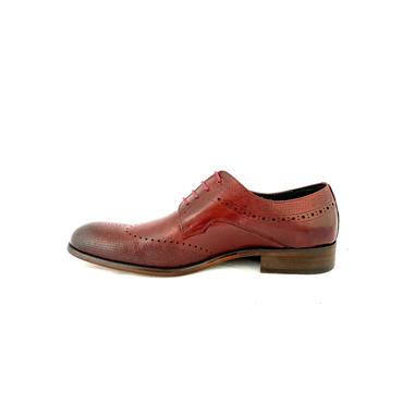 MORGAN GTS TIE BROGUE SHOE - BURGUNDY LEATHER