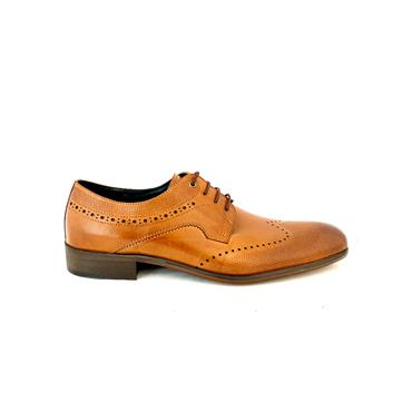MORGAN GTS TIE BROGUE SHOE - TAN LEATHER