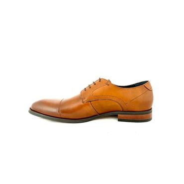 MORGAN MENS TOECAP DRESS LACE SHOE - DARK TAN