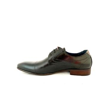 MORGAN MENS TOECAP DRESS LACE SHOE - BLACK