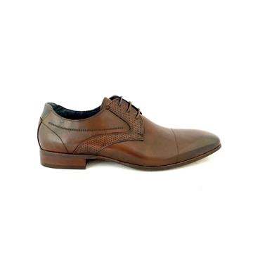 MORGAN MENS TOECAP DRESS LACE SHOE - BROWN