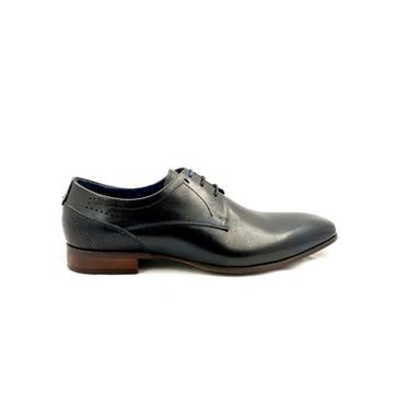 MORGAN MENS PLAIN TOE DRESS LACE SHOE - BLACK