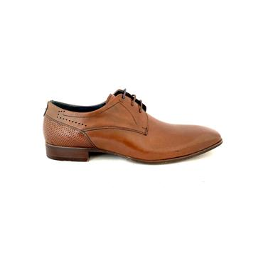 MORGAN MENS PLAIN TOE DRESS LACE SHOE - BROWN