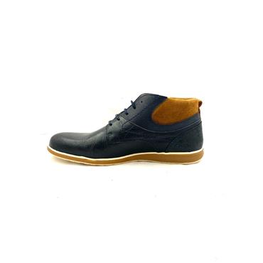 MORGAN MENS LACE ANKLE BOOT - NAVY