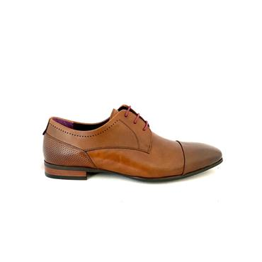 MORGAN MENS DRESS T/CAP LACE SHOE - DARK TAN LEATHER