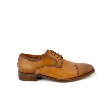 MORGAN MENS DRESS T/CAP LACE SHOE - TAN LEATHER