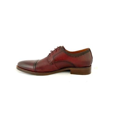 MORGAN MENS DRESS T/CAP LACE SHOE - WINE LEATHER