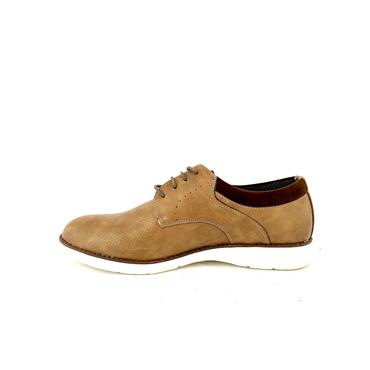 MORGAN MENS CASUAL LACE SHOE - TAUPE