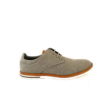 MORGAN GTS CASUAL CANVAS TIE SHOE - GREY