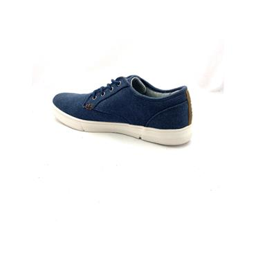 GJK GTS CASUAL CANVAS TIE SHOE - NAVY WHITE