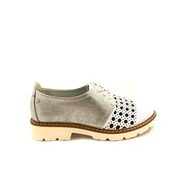 ZANNI WOMENS SUMMER LACE SHOE - SILVER MULTI