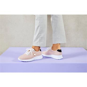 RIEKER WOMENS LACE TRAINER - ROSE