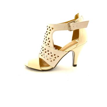 K APPLEBY HIGH FRONT BUCKLE SANDAL - NUDE