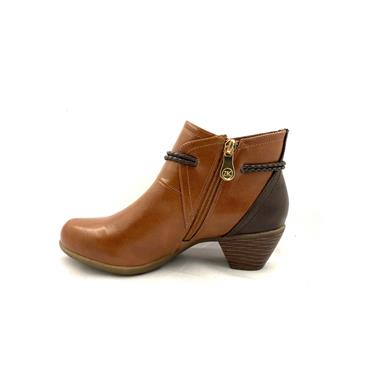 ZANNI LDS CORD STRAP ZIP ANKLE BOOT - TAN