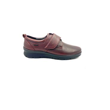 G COMFORT WOMENS WATERPROOF STRAP SHOE - BURGUNDY LEATHER