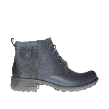 EARTH SPIRIT WOMENS ZIP LACE ANKLE BOOT - NAVY