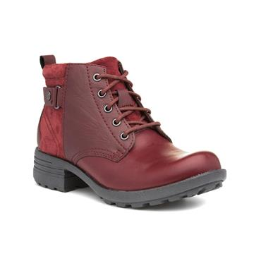 EARTH SPIRIT WOMENS ZIP LACE ANKLE BOOT - RED