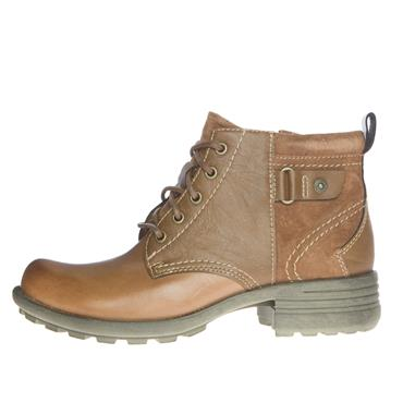 EARTH SPIRIT WOMENS ZIP LACE ANKLE BOOT - TAN