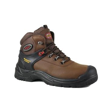 RGP MENS SAFETY LACE BOOT - BROWN
