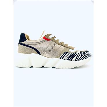 REDZ WOMENS LACE TRAINER - MULTI