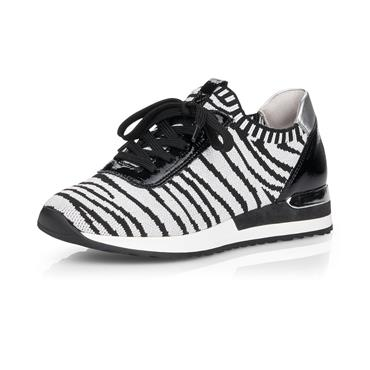 REMONTE WOMENS LACE TRAINER - SILVER BLACK
