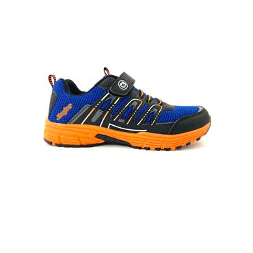 JHAYBER BOYS VEL LACE RUNNER - BLUE ORANGE
