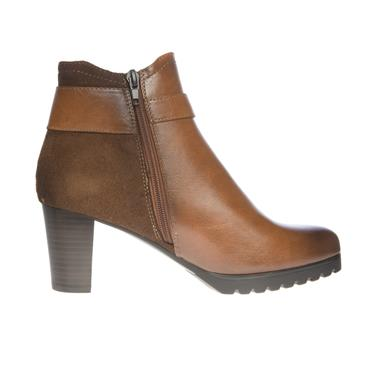 SUSST WOMENS STRAP ZIP ANKLE BOOT - TAN
