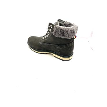 GROUNDWORK WOMENS FURTOP LACE ANKLE BOOT - GREY