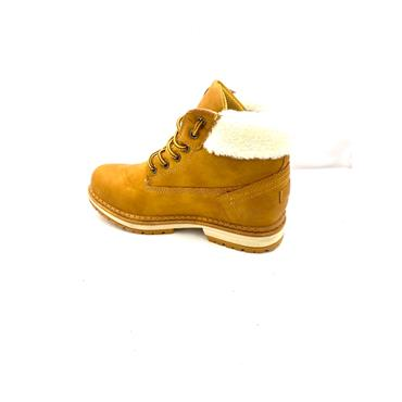 GROUNDWORK WOMENS FURTOP LACE ANKLE BOOT - HONEY