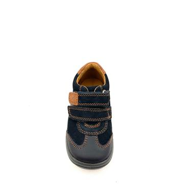 STARTRITE BOYS G FIT VELCRO STRAP SHOE - NAVY BROWN