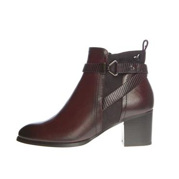 SUSST WOMENS STRAP ZIP ANKLE BOOT - BURGUNDY