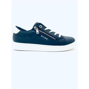 TOMMY BOWE WOMENS LACE ZIP TRAINER - NAVY