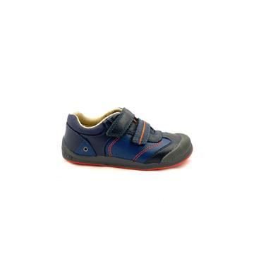 STARTRITE BOYS F FIT VELCRO STRAP SHOE - NAVY