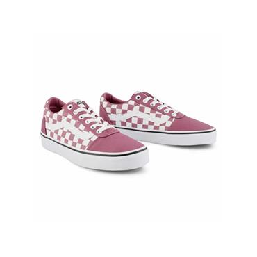 VANS WOMENS OLD SKOOL LACE TRAINER - PINK CHECKER