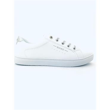 TOMMY BOWE WOMENS LACE TRAINER - WHITE
