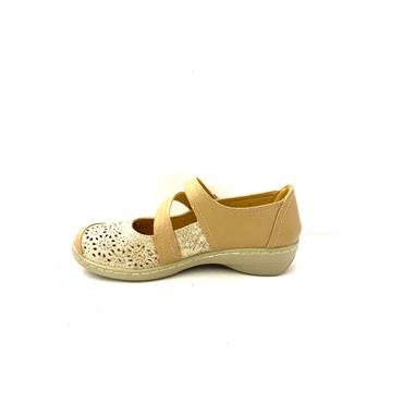 PROPET WOMENS VEL STRAP SUMMER SHOE - BEIGE MULTI