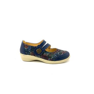 PROPET WOMENS VEL STRAP SUMMER SHOE - NAVY MULTI