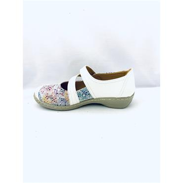 PROPET WOMENS VEL STRAP SUMMER SHOE - WHITE MULTI