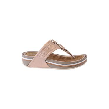 PROPET WOMENS WEDGE TOE POST SANDAL - ROSE GOLD