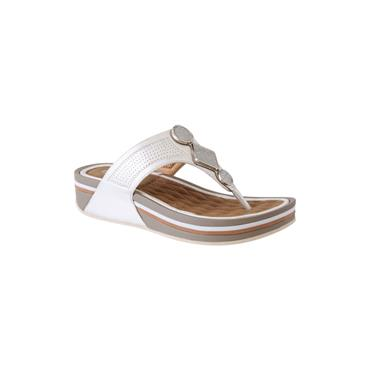 PROPET WOMENS WEDGE TOE POST SANDAL - SILVER