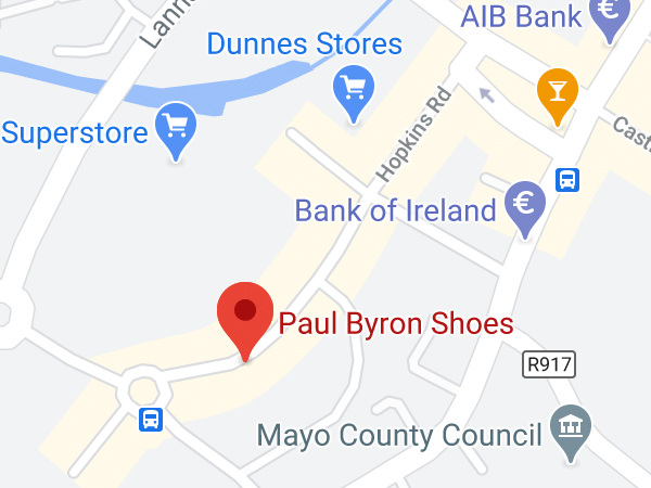 Paul Byron Shoes, Unit 8, Hopkins Road, Castlebar, Co. Mayo