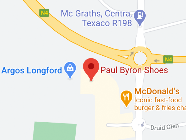 Paul Byron Shoes, N4 Axis Centre, Battery Road, Longford, Co. Longford