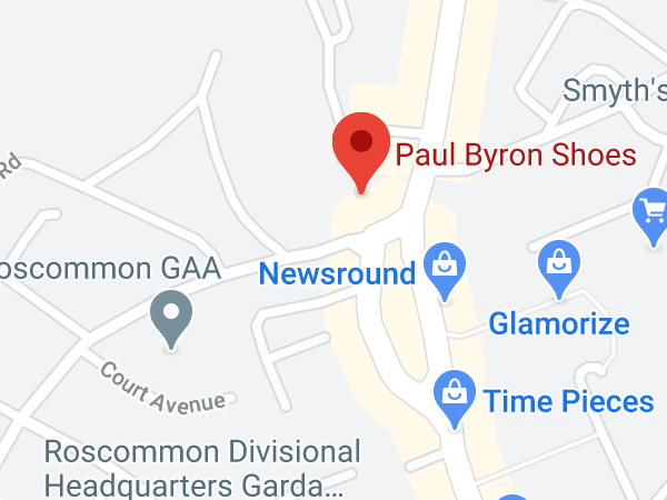 Paul Byron Shoes, Stonecourt Centre, The Square, Roscommon, Co. Roscommon