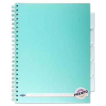 Premto Pastel A4 250pg PP 5 Subject Wiro Project Book