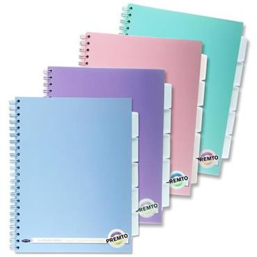 Premto Pastel A4 200pg 5 Subject Wiro Notebook