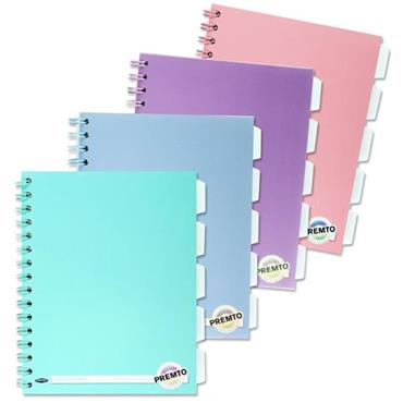Premto Pastel A5 200pg 5 Subject Wiro Notebook