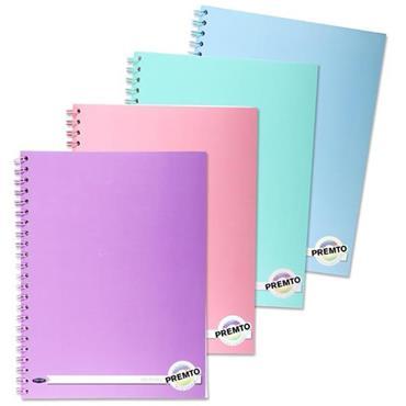 Premto Pastel A4 200pg Wiro Notebook