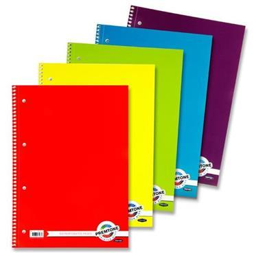 Premto A4 160pg Spiral Notebook