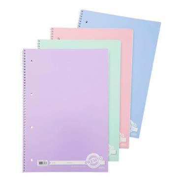 Premto A4 160pg Spiral Notebook - Pastel