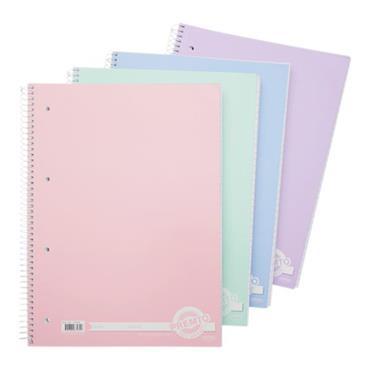 Premto A4 320pg Spiral Notebook - Pastel